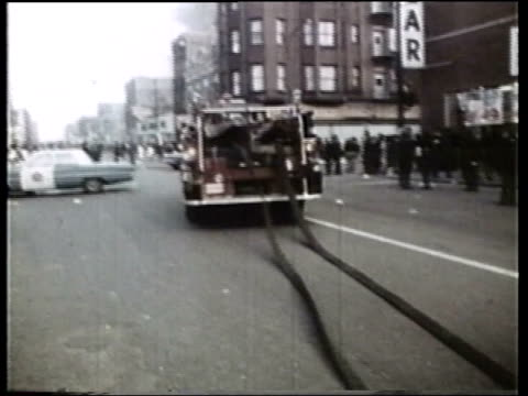 wgn firemen during the riots - assassination stock videos & royalty-free footage