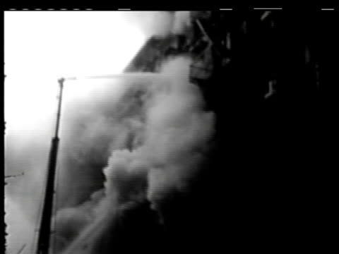 firemen put out building fire on july 05 1949 in new york new york - 1949 stock-videos und b-roll-filmmaterial