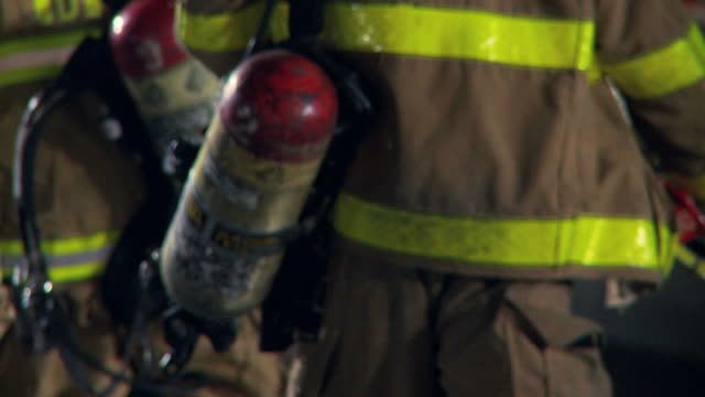 firemen walking away - rescue worker stock videos and b-roll footage