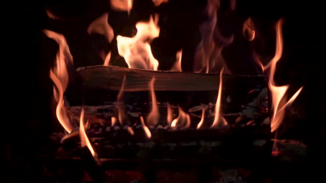 fireplace burning with real wood - public celebratory event stock videos & royalty-free footage