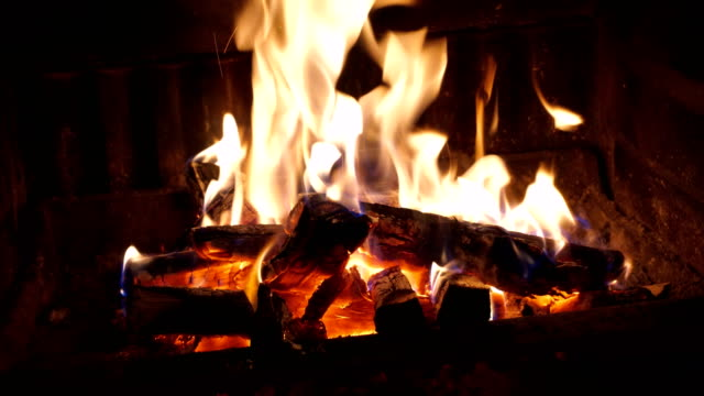 fireplace - fireplace stock videos & royalty-free footage