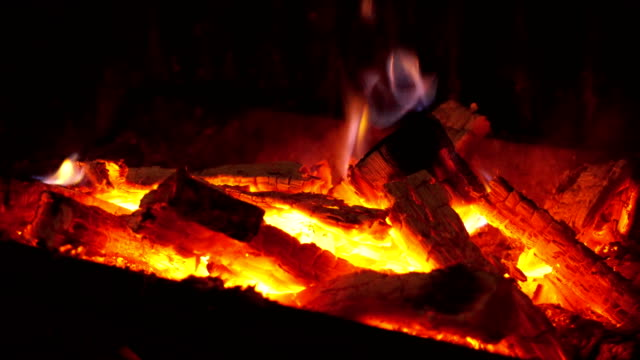 fireplace - open fire stock videos & royalty-free footage