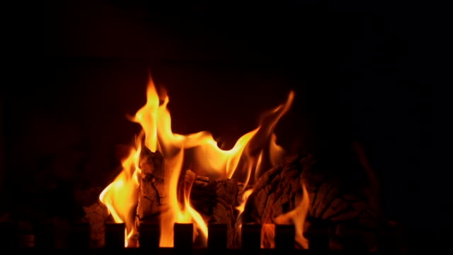 fireplace - loopable elements stock videos & royalty-free footage