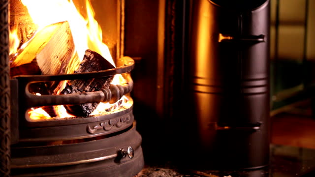 fireplace - briquette stock videos & royalty-free footage