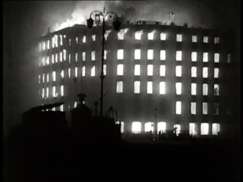 fires burn at night during the biggest air raid in london. - biggest stock videos & royalty-free footage