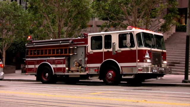 firetruck at scene hd 25fps - fire engine stock videos & royalty-free footage
