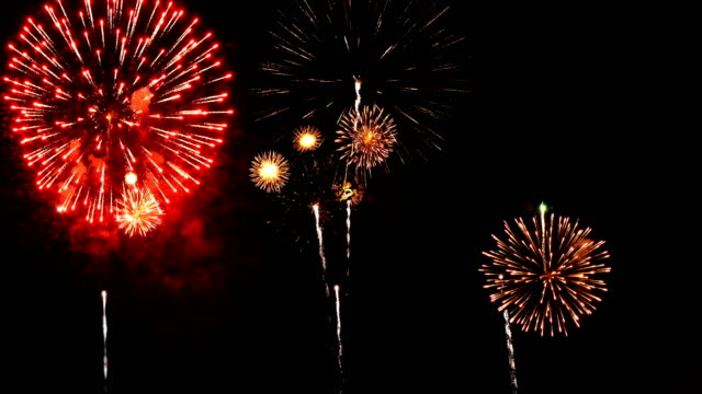 firework 4k with audio - hd format stock videos & royalty-free footage