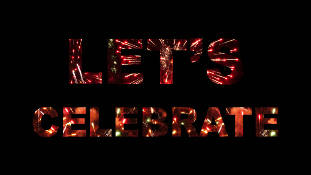 LET'S CELEBRATE Firework Audio Included