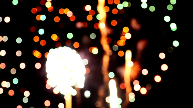 Firework Bokeh Full HD Video