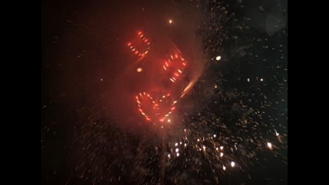 MONTAGE Firework celebrations in Delhi / India
