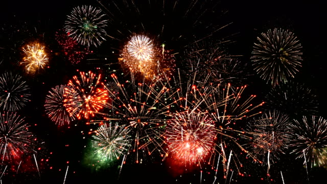 firework condense 4k with audio - firework display stock videos & royalty-free footage