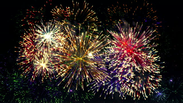 firework display 26s - firework display stock videos & royalty-free footage