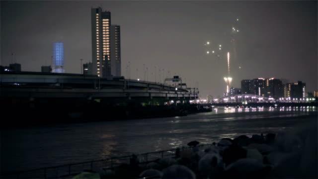 Firework display at Sumida River, Tokyo.