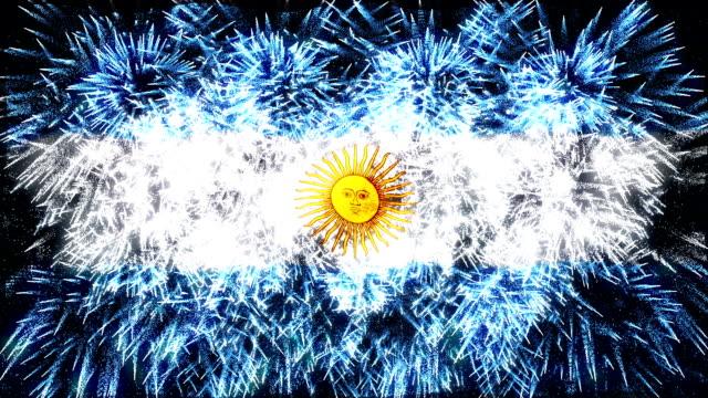 firework display flag of Argentina