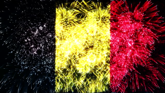 firework display flag of belgium