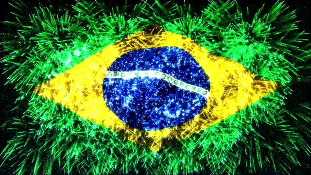 firework display flag of brazil