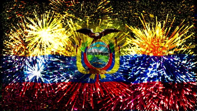 firework display flag of Ecuador
