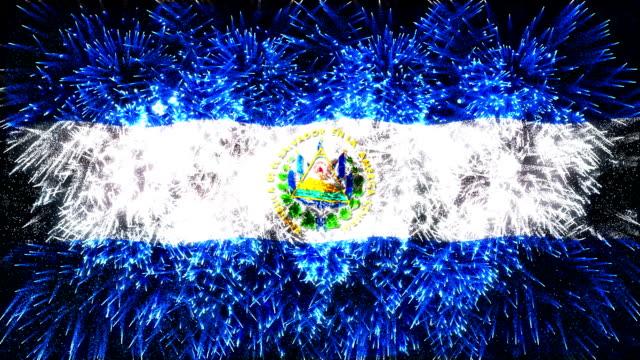 vuurwerk weergegeven vlag van El Salvador