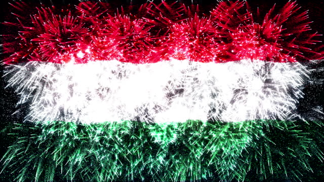 firework display flag of Hungary