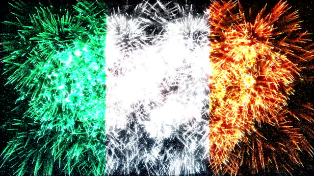 firework display flag of Ireland