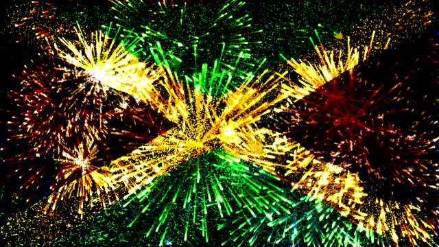 Feuerwerk Flagge von Jamaika