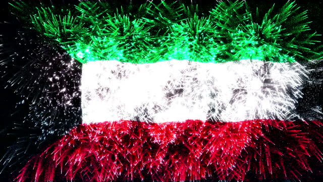 firework display flag of Kuwait
