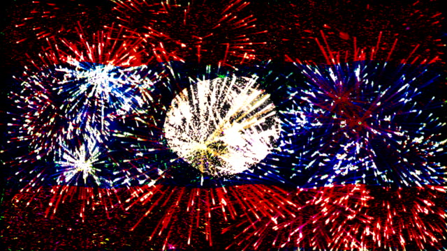 firework display flag of laos - laos stock videos and b-roll footage