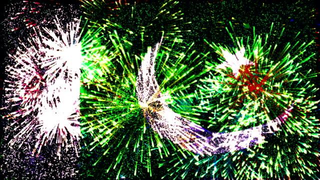 firework display flag of Pakistan