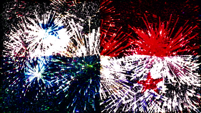 vídeos de stock e filmes b-roll de de fogo de artifício bandeira do panamá - modelo objeto