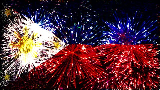 firework display flag of Philippines
