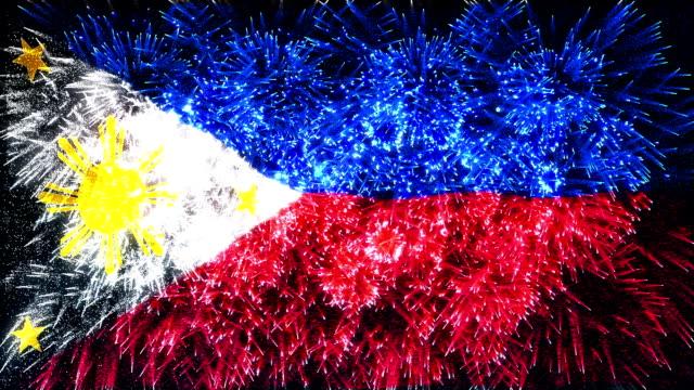 vuurwerk vlag van Filipijnen