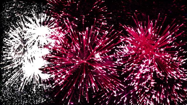 firework display flag of qatar - public celebratory event stock videos & royalty-free footage