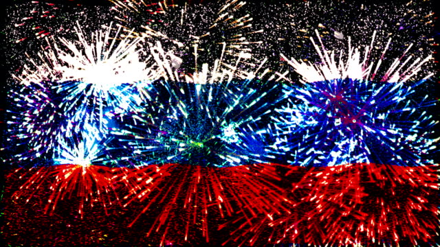 firework display flag of russian federation