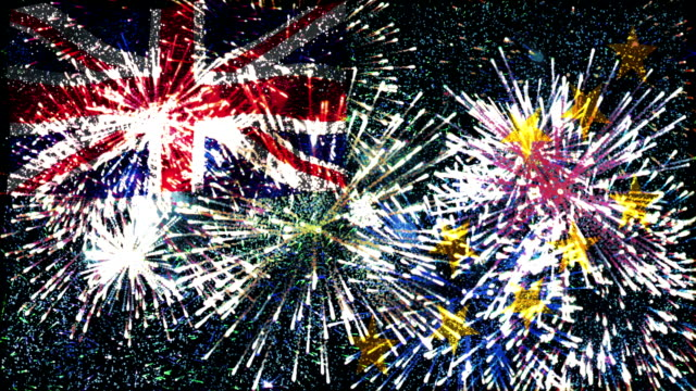 firework display flag of tuvalu - pacific islands stock videos and b-roll footage