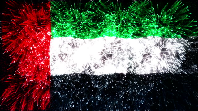 firework display flag of united arab emirates