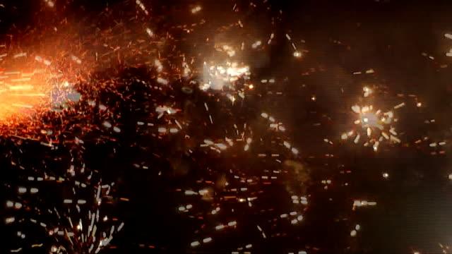 firework display hd - firework explosive material stock videos & royalty-free footage