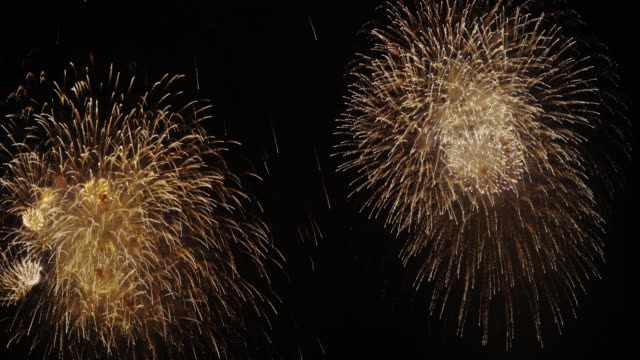firework display in tokyo - firework display stock videos & royalty-free footage