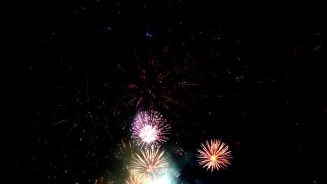 firework display, loopable - firework display stock videos & royalty-free footage