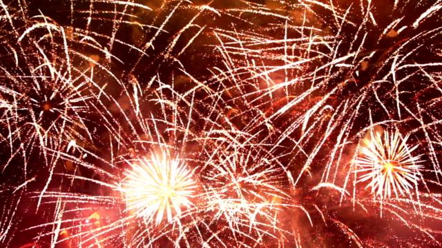 stockvideo's en b-roll-footage met firework display, loopable - vuurwerkshow