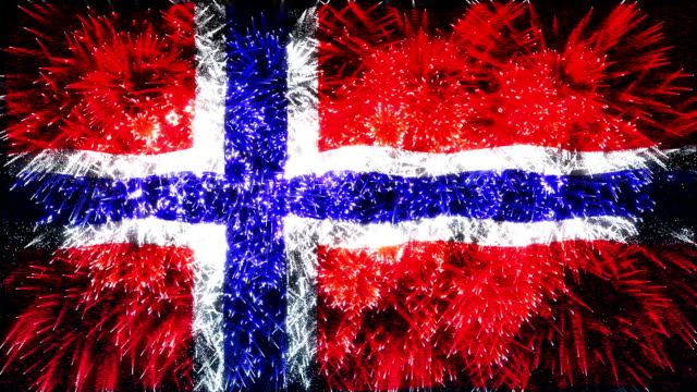 firework flag of norway - national landmark stock videos and b-roll footage