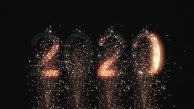 firework happy new year 2020 - new year's eve stock videos & royalty-free footage