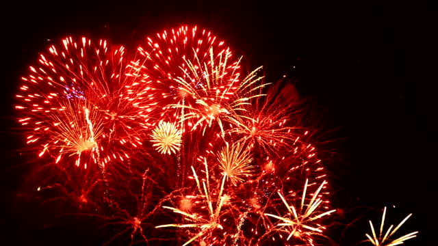 firework in night sky full hd video - firework display stock videos & royalty-free footage