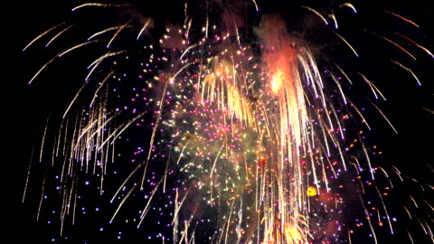 firework in the night sky - celebration event stock videos & royalty-free footage