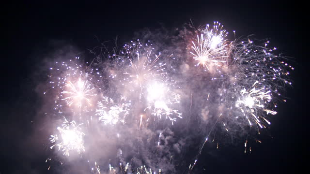firework over the night sky - explosive material stock videos & royalty-free footage