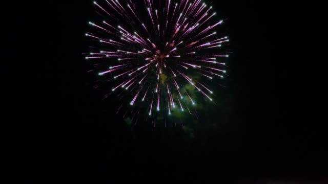 firework slomo single burst . - single object stock videos & royalty-free footage