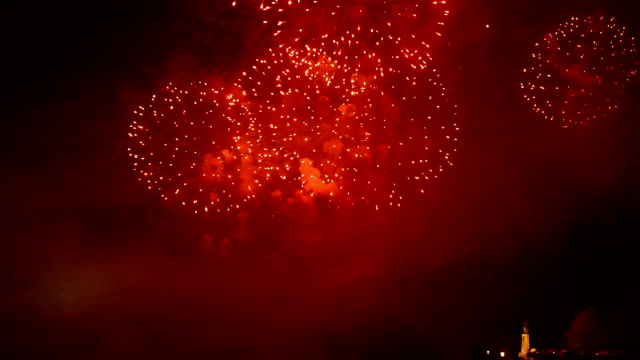 fireworks and celebration in budapest, hungary - budapest video stock e b–roll
