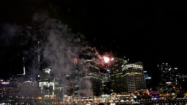 Fireworks at Darling Harbour in Sydney
