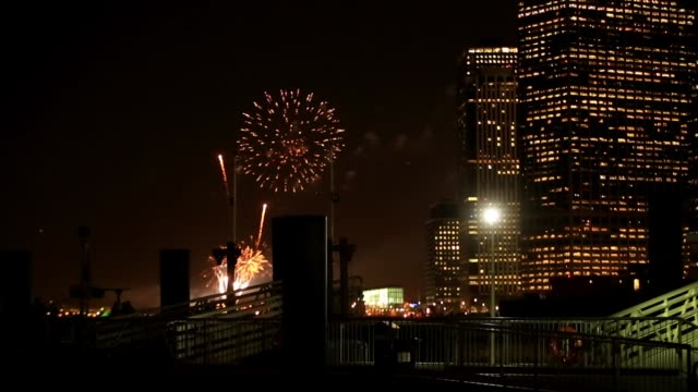 Fireworks at New York in the Night