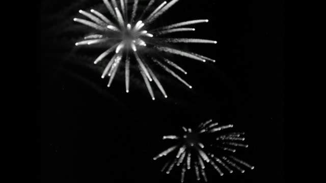 fireworks at night at battersea festival gardens; 1953 - 1953 stock videos & royalty-free footage
