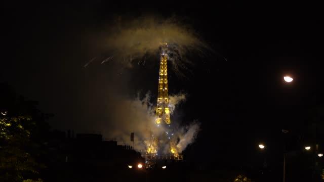 FRA: Bastille Day Fireworks At The Eiffel Tower In Paris